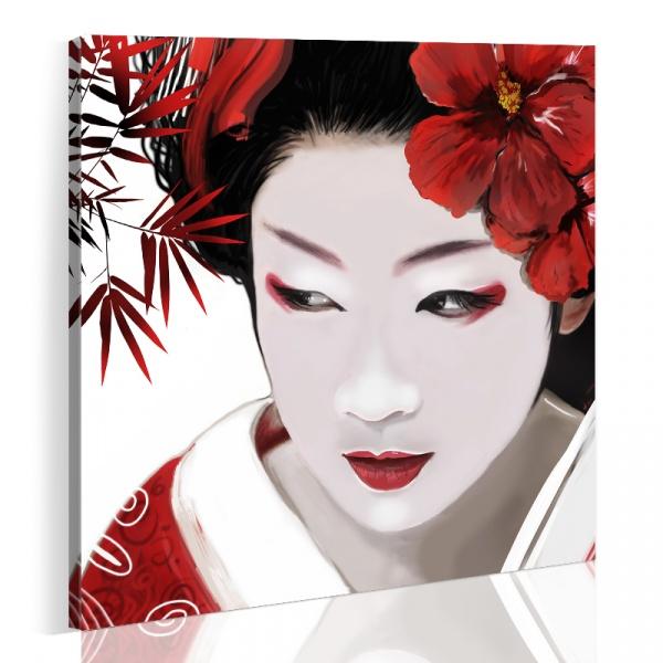 Obraz - Japońska Gejsza (40x40 cm) A0-N2688