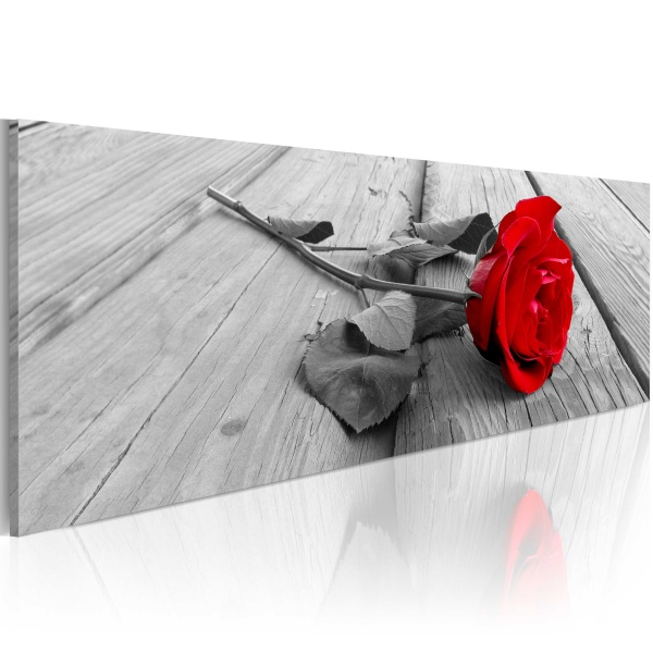 Obraz - Karminowa róża (120x40 cm) A0-N3374