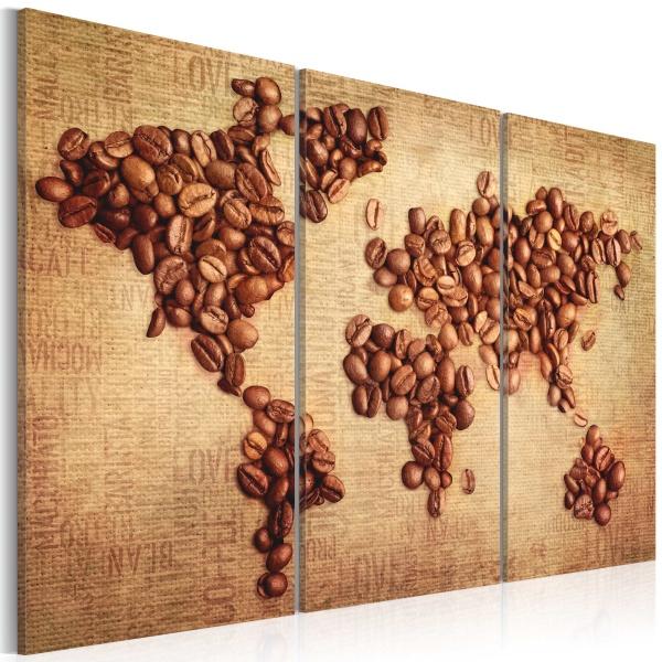 Obraz - Kawy świata - tryptyk (60x40 cm) A0-N2528