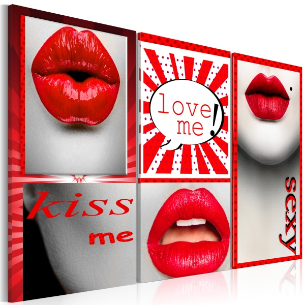 Obraz - Kiss me! Love me! (60x40 cm) A0-N2819