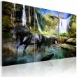Obraz - Koń na tle błękitnego wodospadu A0-N1662