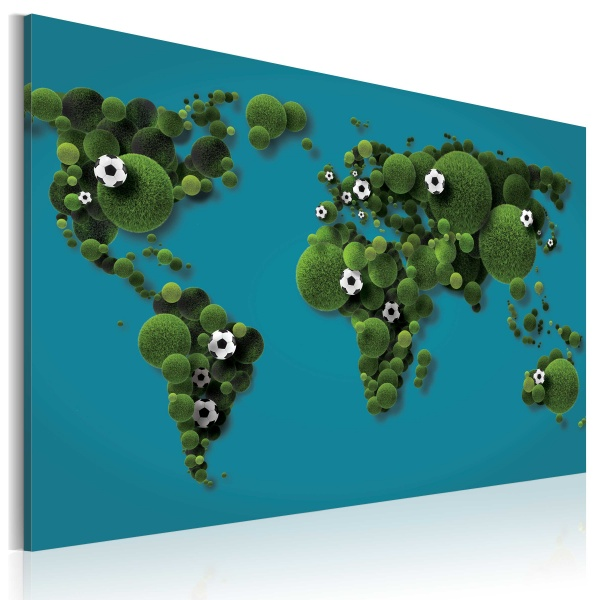 Obraz - Kontynenty okrągłe jak piłka (60x40 cm) A0-N2037