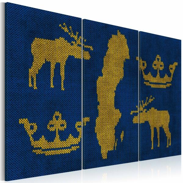 Obraz - Królestwo Szwecji - tryptyk (60x40 cm) A0-N2124