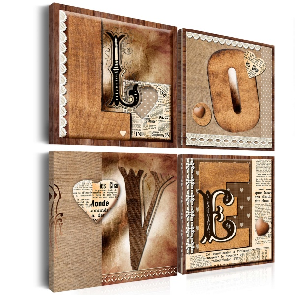 Obraz - Księga miłości (40x40 cm vlies-leinwand cm) A0-N2667