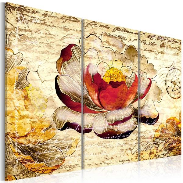 Obraz - Kwiat w stylu retro (60x40 cm) A0-N2901