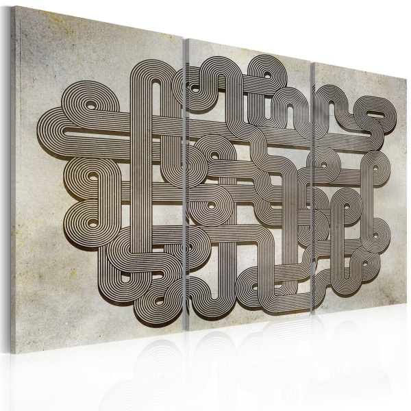Obraz - labirynt - vintage (60x40 cm) A0-N2258