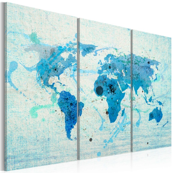 Obraz - Lądy i oceany - tryptyk (60x40 cm) A0-N2061