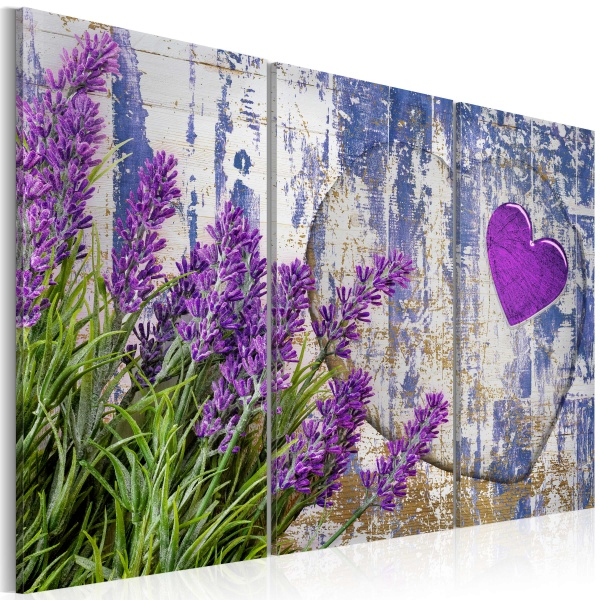 Obraz - Lawendowe love (60x40 cm) A0-N2844