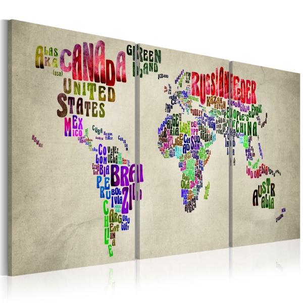 Obraz - Lekcja geografii (60x30 cm) A0-N2010