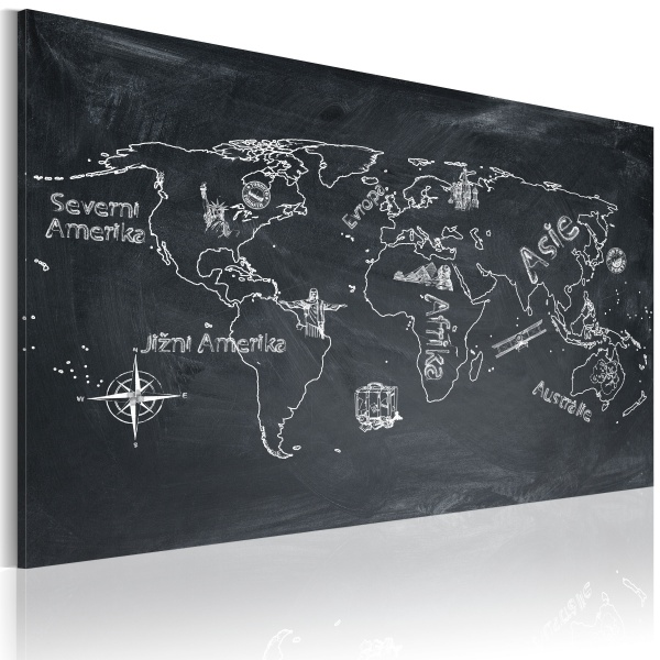 Obraz - Lekcja geografii (Język czeski) (60x40 cm) A0-N2178