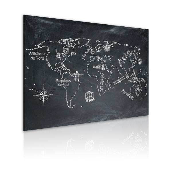 Obraz - Lekcja geografii (Język francuski) (60x40 cm) A0-N2180