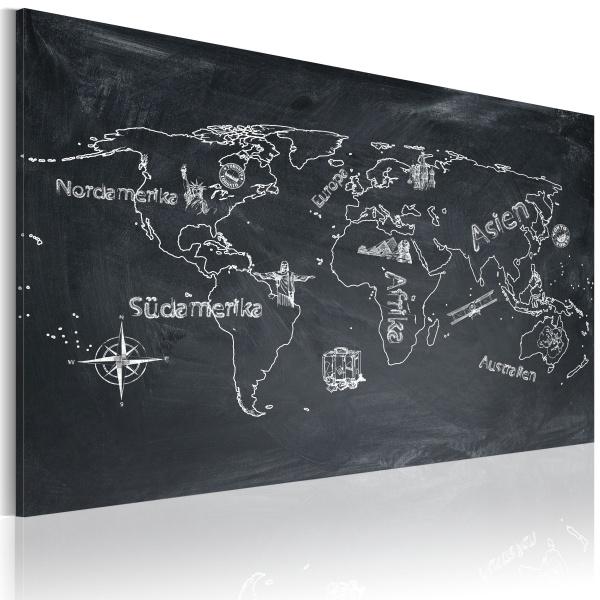 Obraz - Lekcja geografii (Język włoski) (60x40 cm) A0-N2181