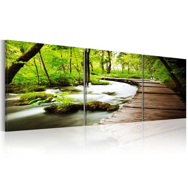 Obraz - Leśny strumyk (150x50 cm) A0-N3330-DKX