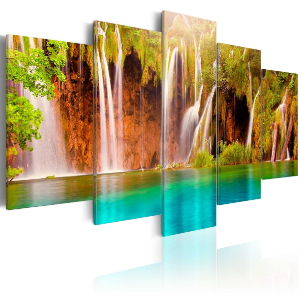 Obraz - Leśny wodospad (100x50 cm) A0-N3068
