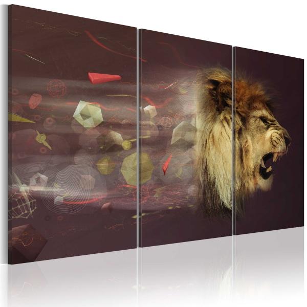 Obraz - lew (abstrakcja) (60x40 cm) A0-N2592