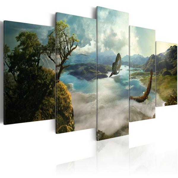 Obraz - Lot sokoła (100x50 cm) A0-N2356