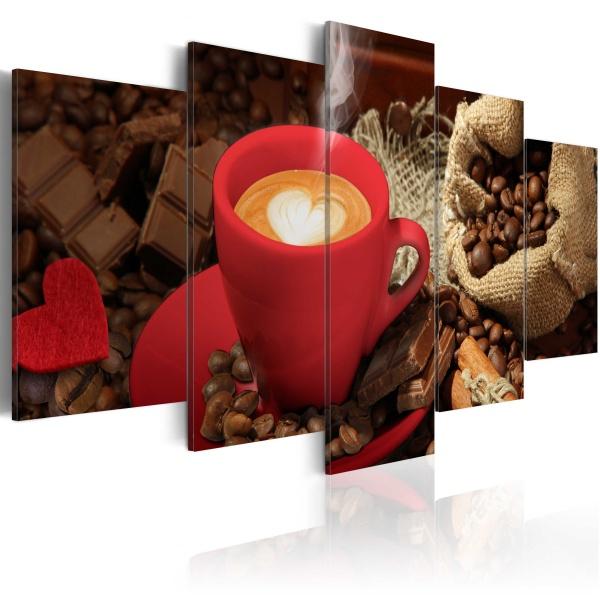 Obraz - Love espresso (100x50 cm) A0-N2974