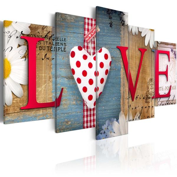 Obraz - LOVE - handmade (100x50 cm) A0-N3001