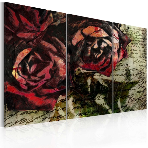 Obraz - Love letter - triptych (60x40 cm) A0-N2262