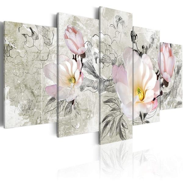 Obraz - magnolia - styl retro (100x50 cm) A0-N2872