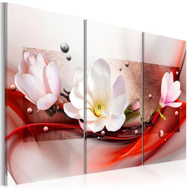 Obraz - Magnolia w czerwieni (60x40 cm) A0-N3003