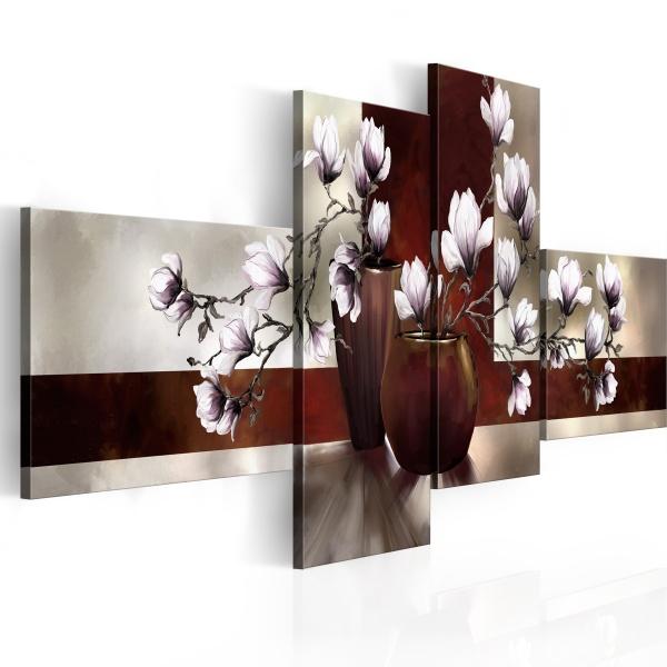 Obraz - Magnolie w wazonie (100x45 cm) A0-N2457
