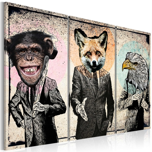Obraz - Małpi interes (60x40 cm) A0-N2904