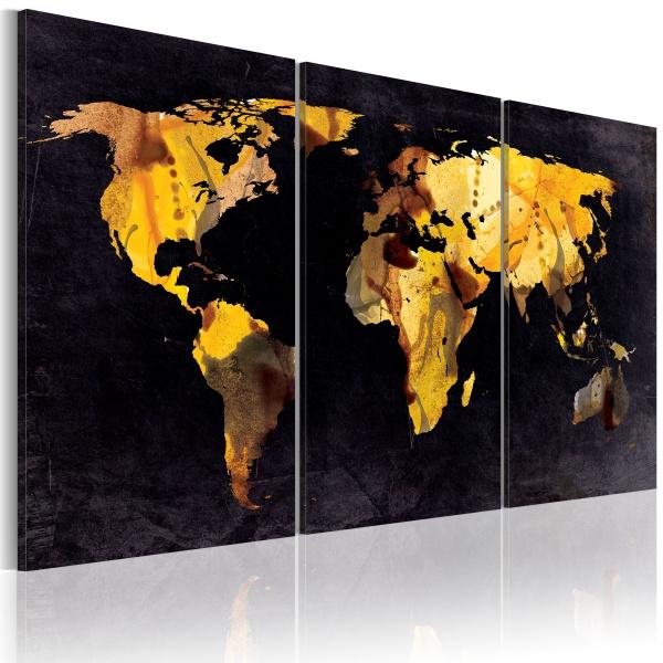 Obraz - Mapa świata - ruchome piaski (60x30 cm) A0-N2016