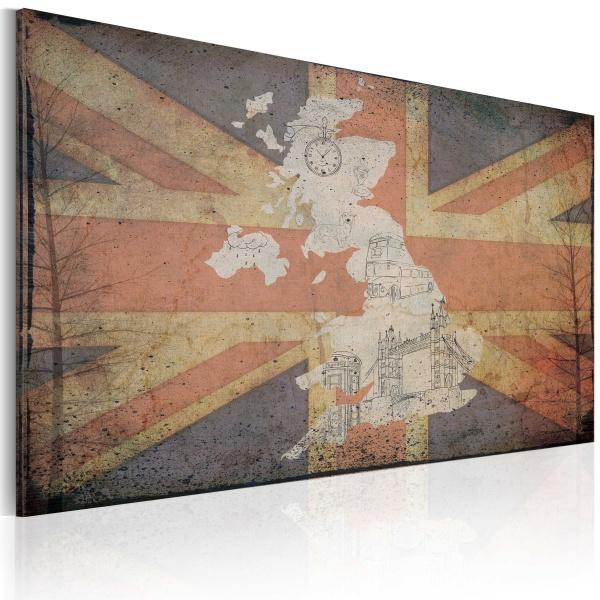 Obraz - Mapa Wielkiej Brytanii (60x40 cm) A0-N2154