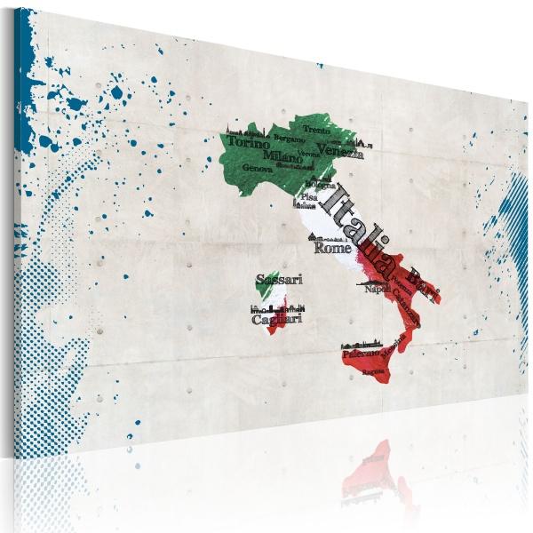 Obraz - Mapa Włoch (60x40 cm) A0-N2163