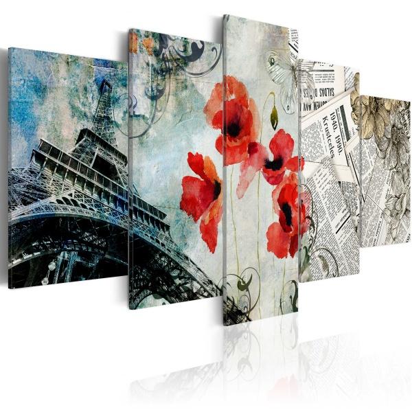 Obraz - Memories of Paris (100x50 cm) A0-N3005
