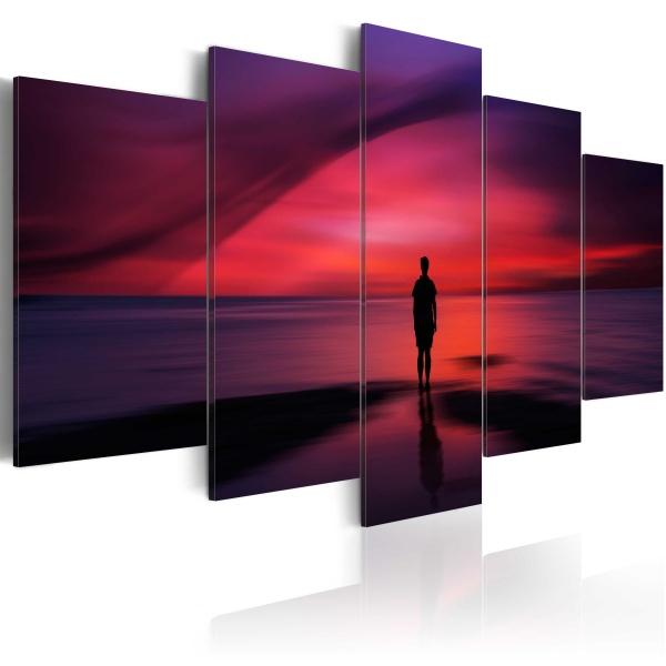 Obraz - Mężczyzna podziwiający zachód słońca (100x50 cm) A0-N1866
