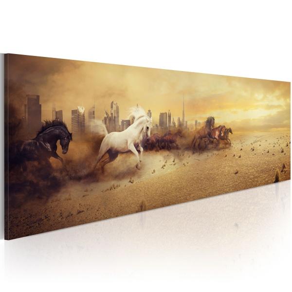 Obraz - Miasto ogierów (120x40 cm) A0-N2930