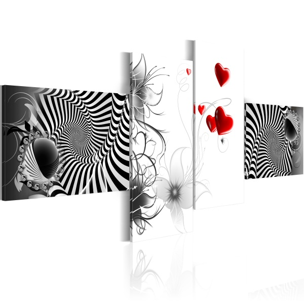 Obraz - Miłosne zawirowania (100x45 cm) A0-N2595