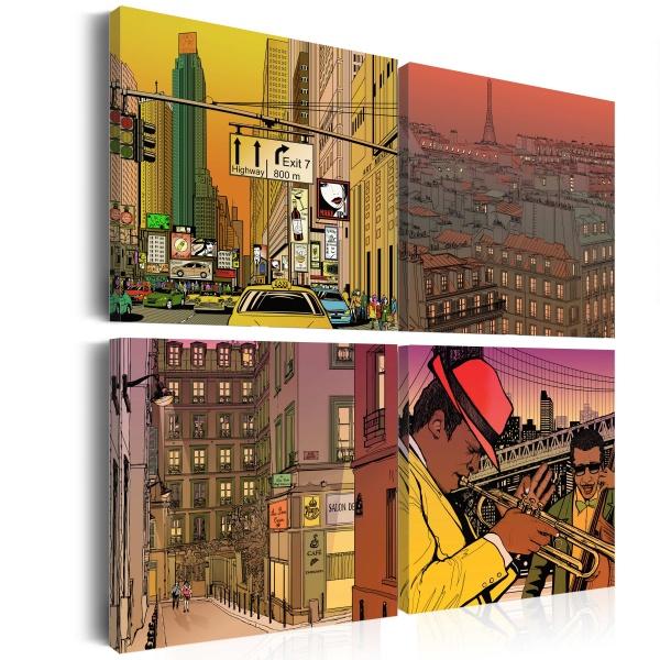 Obraz - Może Paryż, może Nowy York... (40x40 cm) A0-N1924