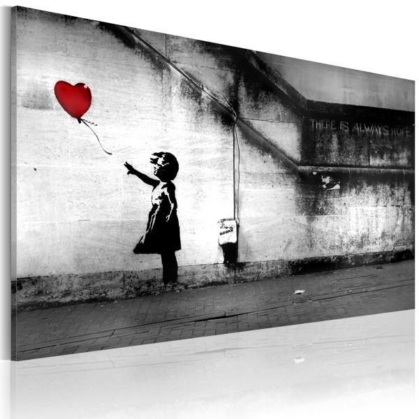 Obraz - nadzieja (Banksy) (60x40 cm) A0-N2627
