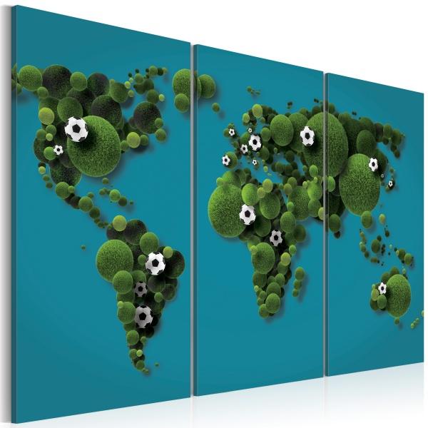Obraz - Największe boisko świata - tryptyk (60x40 cm) A0-N2056