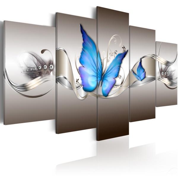 Obraz - Niebieskie motyle (100x50 cm) A0-N2823