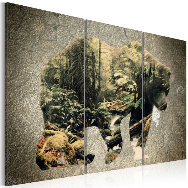 Obraz - Niedźwiedź w lesie (60x40 cm) A0-N3684