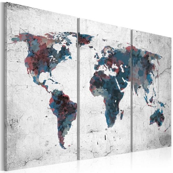 Obraz - Nieodkryte kontynenty - tryptyk (60x40 cm) A0-N2102
