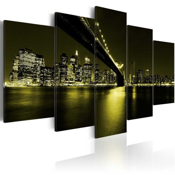 Obraz - Niezapomniana noc w Nowym Jorku (100x50 cm) A0-N2983
