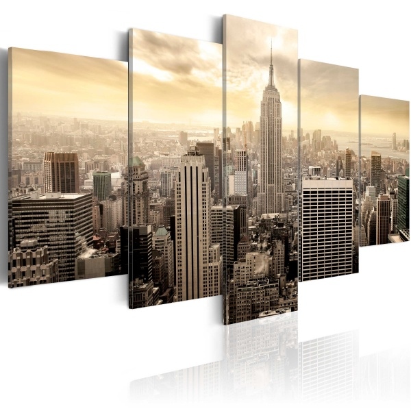 Obraz - Nowy Jork i wschód słońca (100x50 cm) A0-N3301
