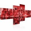 Obraz - NYC - miasto w odcieniach czerwieni A0-N1742