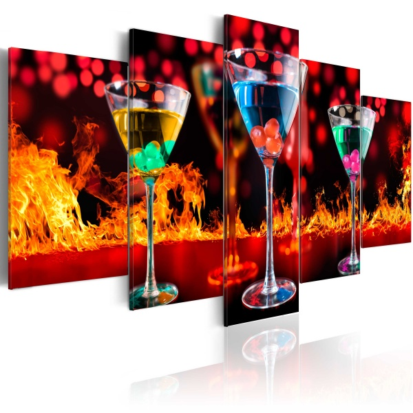 Obraz - Ogniste martini (100x50 cm) A0-N3169