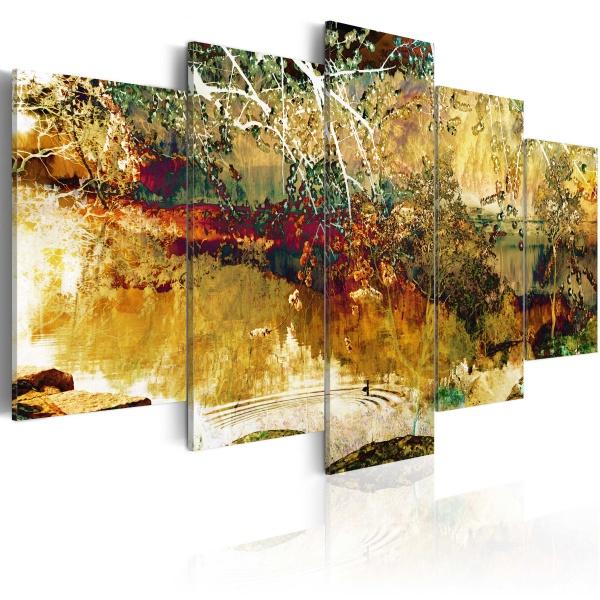 Obraz - ogród: abstrakcja (100x50 cm) A0-N2306