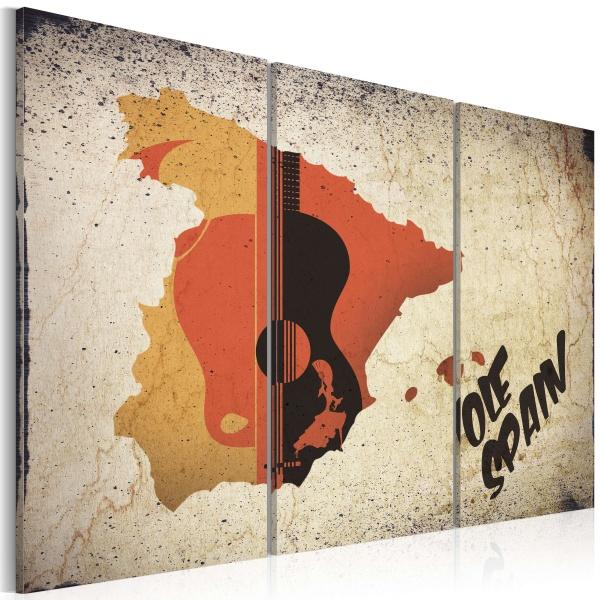 Obraz - ¡Olé! Spain - tryptyk (60x40 cm) A0-N2133