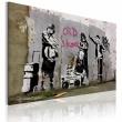 Obraz - Old school (Banksy) A0-N1798