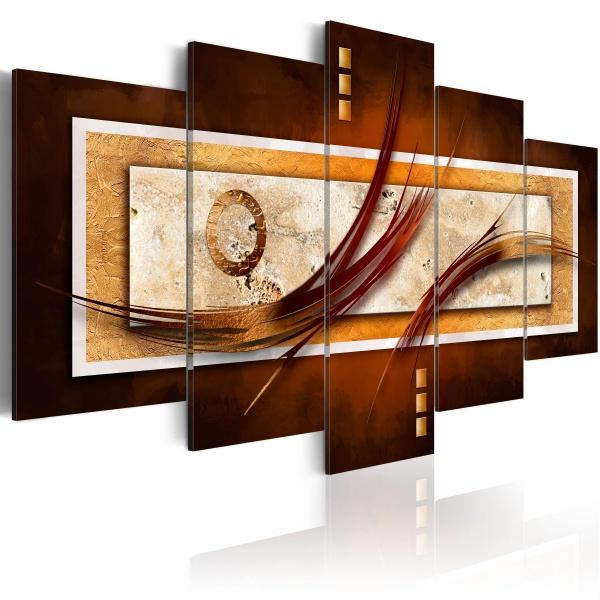 Obraz - Opalizujący brąz (100x50 cm) A0-N2722