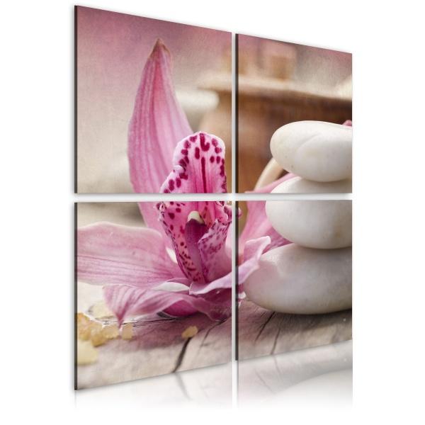 Obraz - Orchidea i zen (40x40 cm) A0-N1945