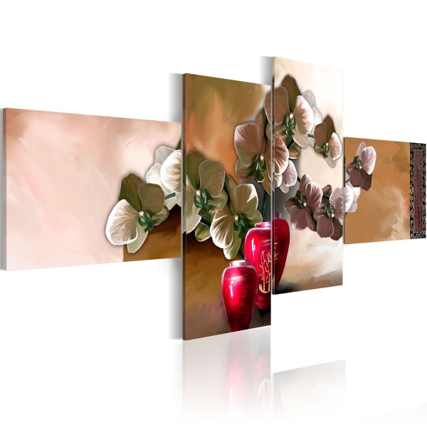 Obraz - Orient i orchidea (100x45 cm vlies-leinwand cm) A0-N2660